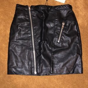 Dance & Marvel Faux Leather Mini Skirt Sz S